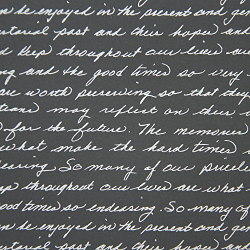 American Crafts DCWV 12'' x 12'' Loose Printed Paper - Silver Script Design - 25 Sheets by American Crafts