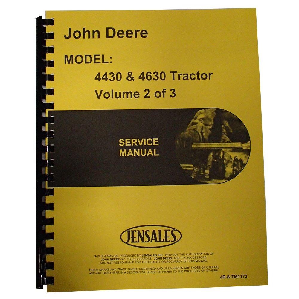 Amazon.com: New Service Manual For John Deere 4630 Tractor: Industrial &  Scientific