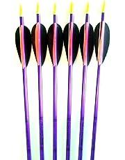 Feather Fletched Easton XX75 Jazz Aluminum Arrows 6-pack