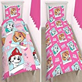 (US) Paw Patrol Pink Duvet Cover set For twin Bed