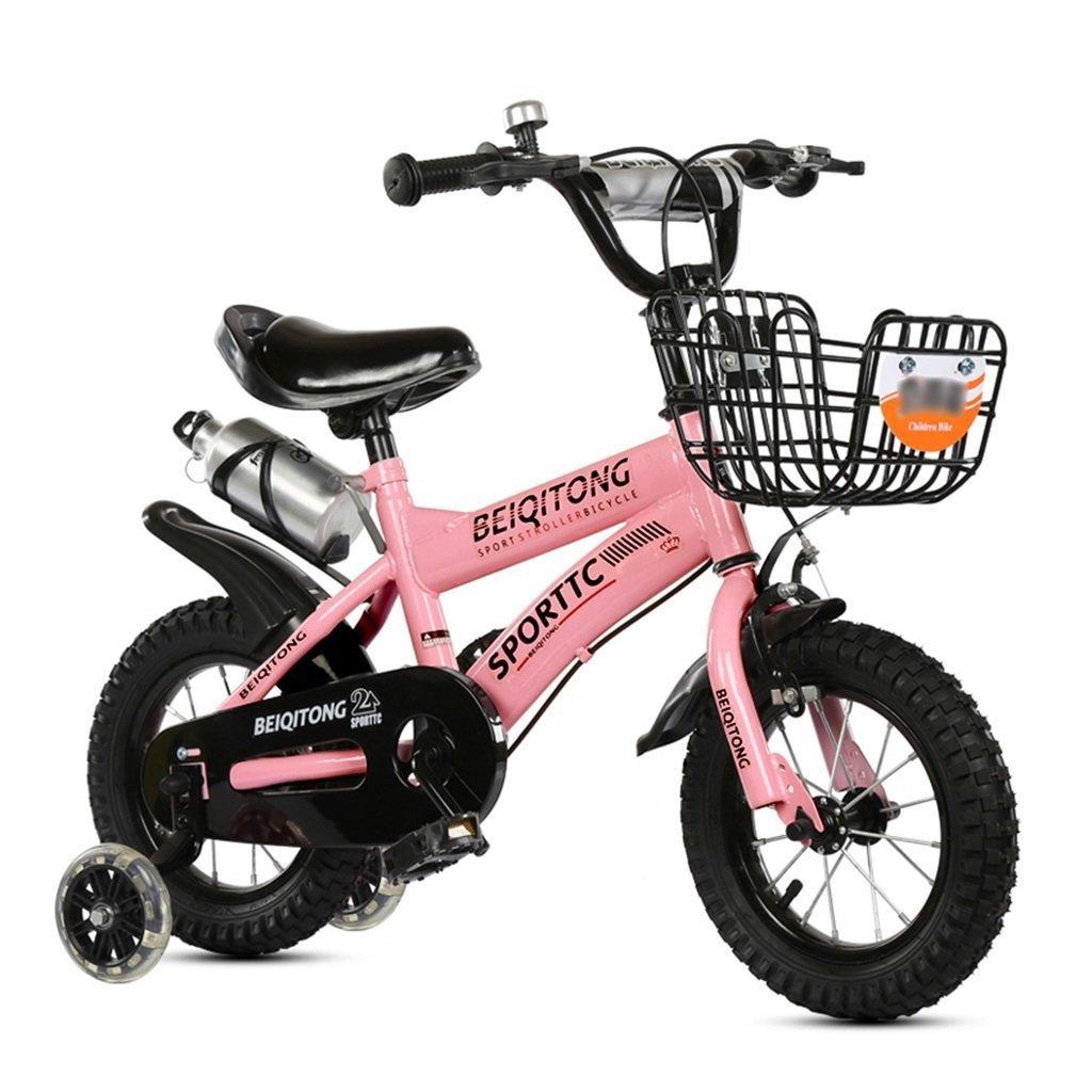 Bicicletas Infantiles Bicicleta Para Nintilde;os 12 14 16 18 18 18 20 Pulgadas Al Aire Libre Nintilde;o Bebeacute; Nintilde;o Bicicleta De Montantilde;a Regalo De Nintilde;a De 2 A 11 Antilde;os Con Rueda De Entrenamiento Flash   Cesta De Hierro   Botell 3901ba