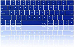 Kuzy - MacBook Pro Keyboard Cover with Touch Bar for 13 and 15 inch 2019 2018 2017 2016 (Apple Model A2159, A1989, A1990, A1706, A1707) Silicone Skin Protector - Navy