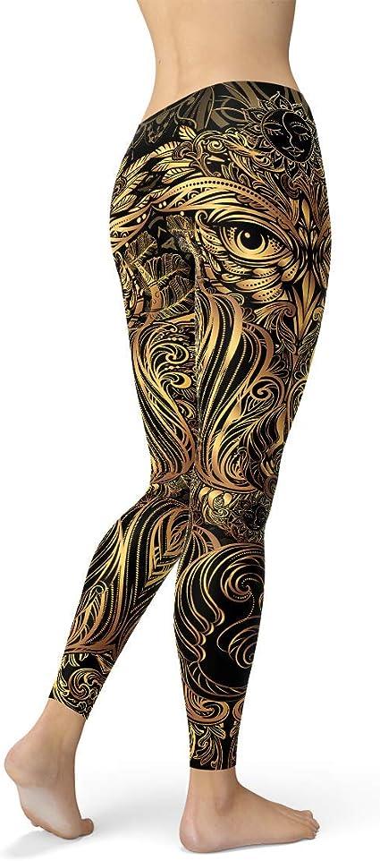 Details about  /Steampunk Retro Comic Gothic Legging High Waist Capri Leggings Womens Yoga Pants