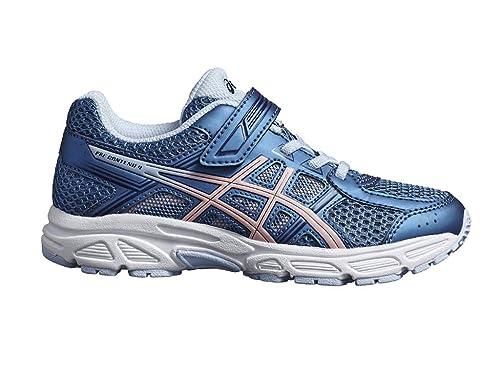 ASICS - Zapatillas de Running de Sintético para niña Azul Azure/Frosted Rose: Amazon.es: Zapatos y complementos