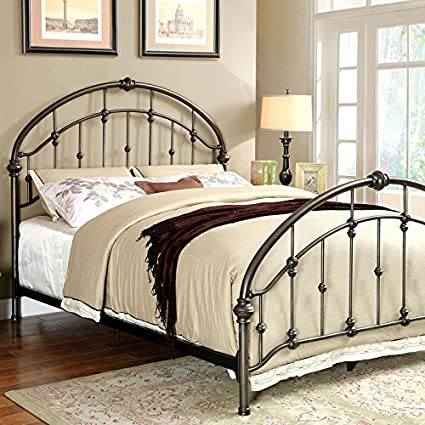 Amazon.com: 247SHOPATHOME IDF-7702CK Bed-Frames, California King ...