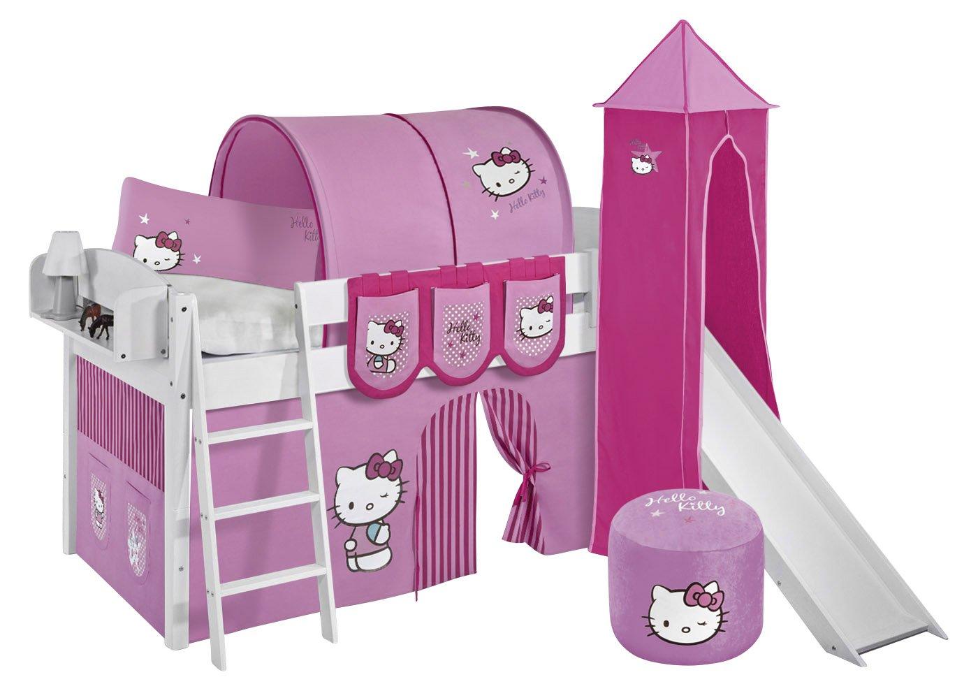 Lilokids IDA4105KWTR-HELLOKITTY-R Kinderbett, Holz, hello kittty rosa, 208 x 220 x 185 cm