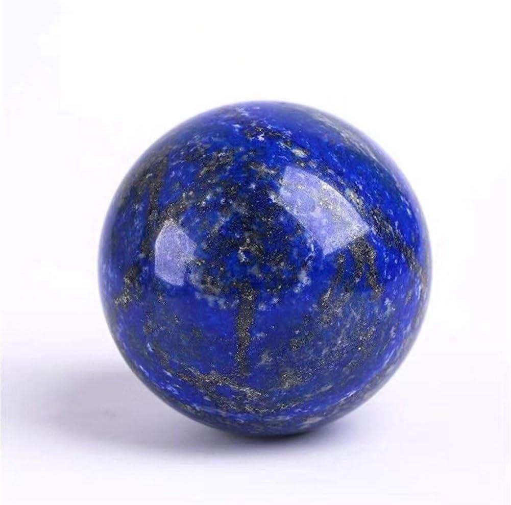 ACEACE Los Cristales de Cuarzo lapislázuli Bola de Piedras Naturales y Piedras Preciosas Minerales Esfera Fina decoración Feng Shui (Size : 40 50mm)
