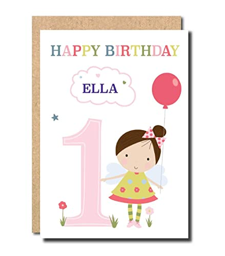 Personalised 1st Birthday Card For Daughter GrandDaughter Niece Cousin