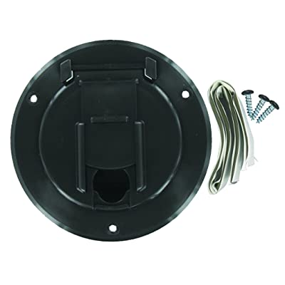 Valterra A10-2140BKVP Small Round Cord Hatch - Black: Automotive