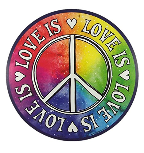 - Love Is Peace Sign Magnet for Car Locker or Refrigerator, 5 3/4 Inch