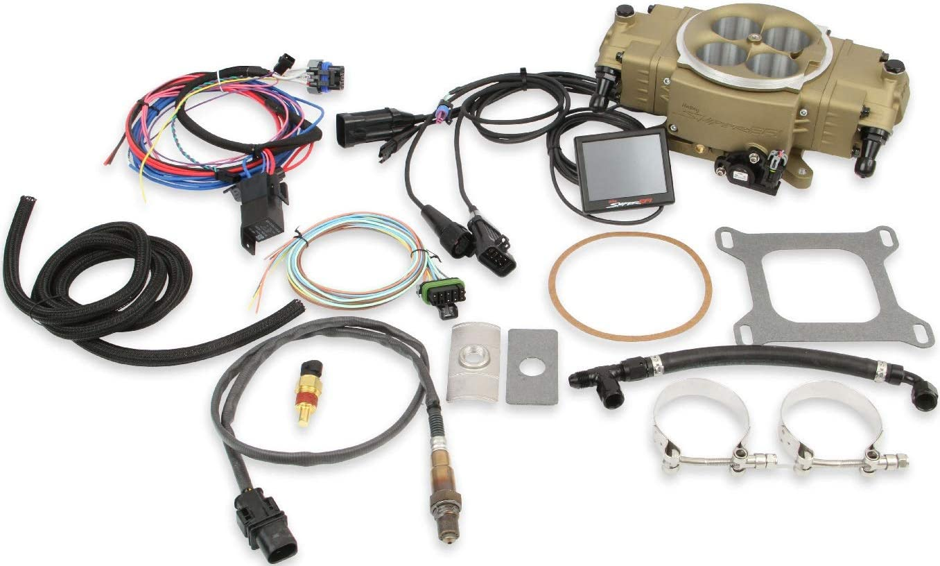 BRAND NEW HOLLEY SNIPER EFI STEALTH KIT 4150 4 BBL FUEL INJECTION CONVERSION,GOLD,870 CFM,COMPATIBLE WITH 4150 FLANGE STYLE MANIFOLDS