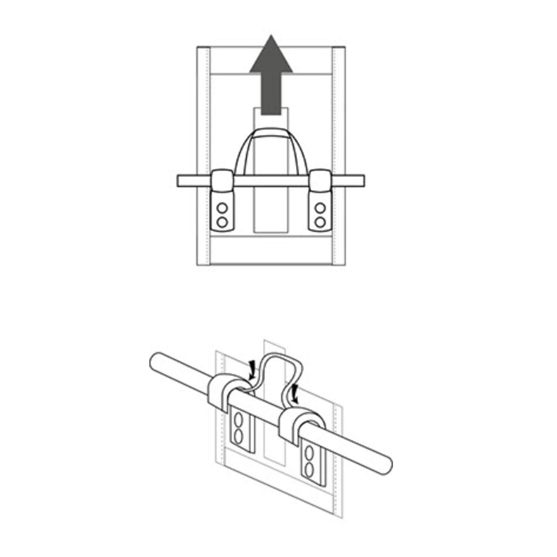 C-BAGS Heart Single Trekking Gep/äcktr/äger Fahrradtasche Verschiedene Muster
