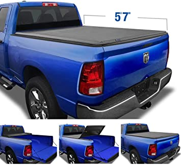 Amazon Com Tyger Auto T3 Soft Tri Fold Truck Bed Tonneau Cover For 2009 2018 Dodge Ram 1500 2019 2020 1500 Classic Fleetside 5 7 Bed Without Rambox Tg Bc3d1015 Black Automotive