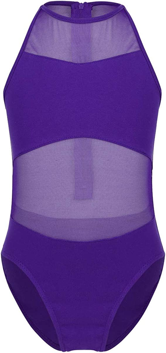 CHICTRY Girls Basics Slim Cotton Camisole Leotard with Back Detailing for Dance Gymnastics and Sport