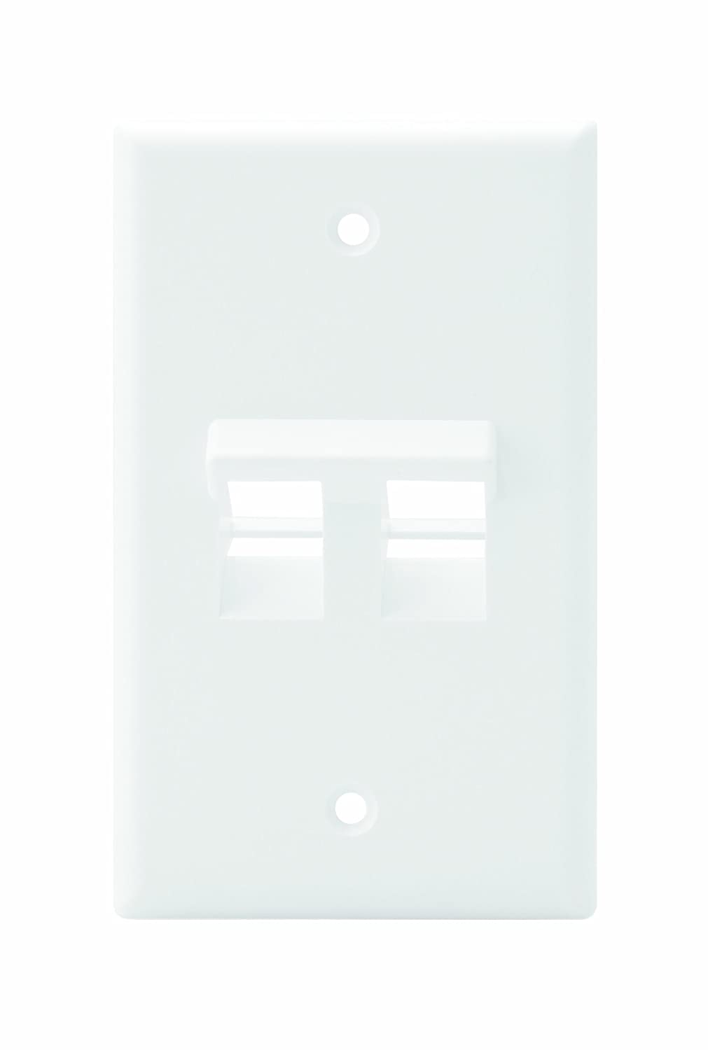 Leviton 41081 2wp Angled Quickport Wallplate 2 Port Ivory 1 To 5 Modular 4wire Phone Jack Converter Adapter C0261 Single Gang White Home Improvement