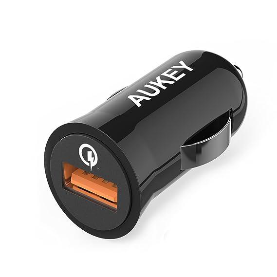 Aukey Quick Charge 2.0 18 W USB Cargador de Coche para LG G3/G4 ...