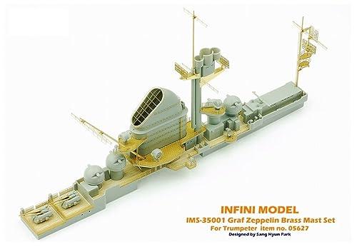 インフィニモデル 1/350 IMSシリーズ ドイツ海軍 空母 グラーフ・ツェッペリン用/TR社用 艦船用真ちゅうマストセット プラモデル用パーツ IMS3501