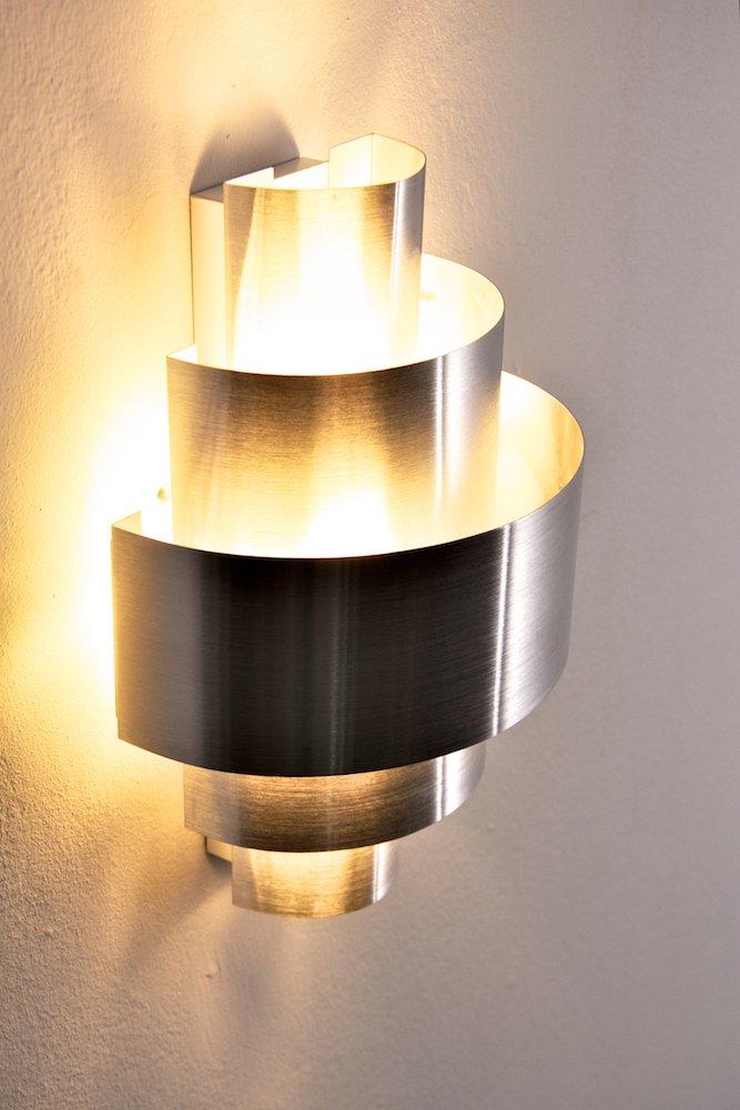 Wandspot Lucillo   Moderne Designerlampe Mit Tollen Schatteneffekten    Wandstrahler Aus Gebürstetem Aluminium   Wandleuchte Wohnzimmer: Amazon.de:  ...