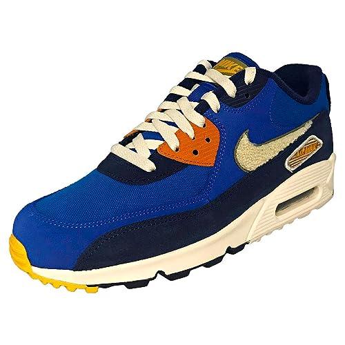 crazy price 2018 sneakers new york Nike Men's Air Max 90 Premium SE Running Shoe 13 Blue