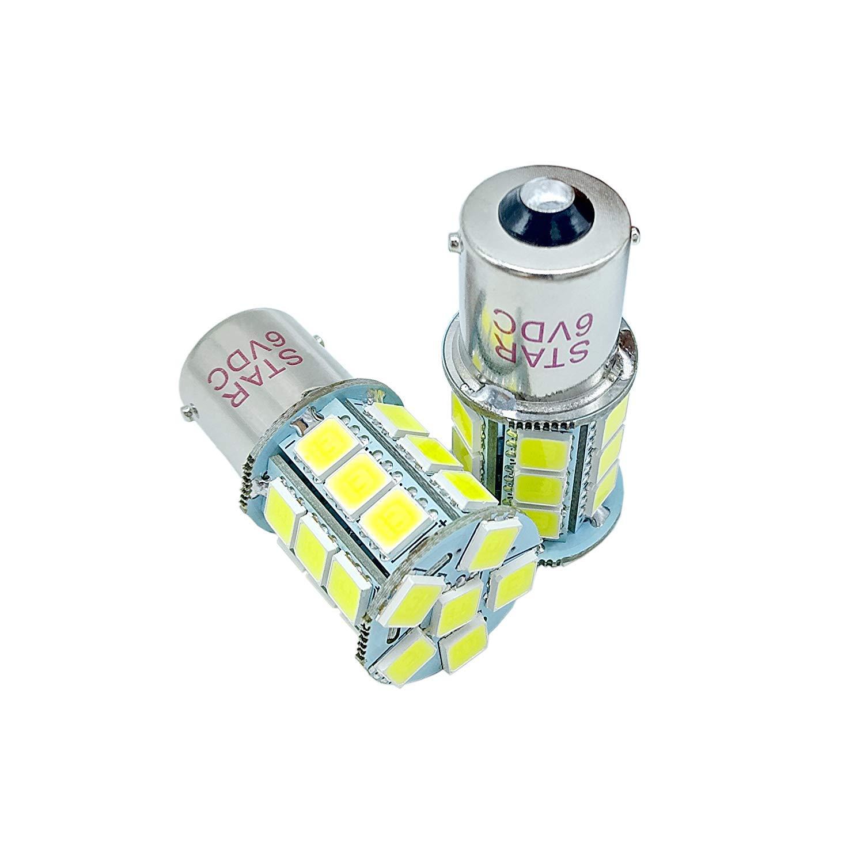 Super Brightness BA15S 27SMD LED 1156 1141 1003 RV Camper Trailer Ampoules inté rieures, 6VDC Couleur: 6500k Blanc, paquet de 2 Star Opto Technology