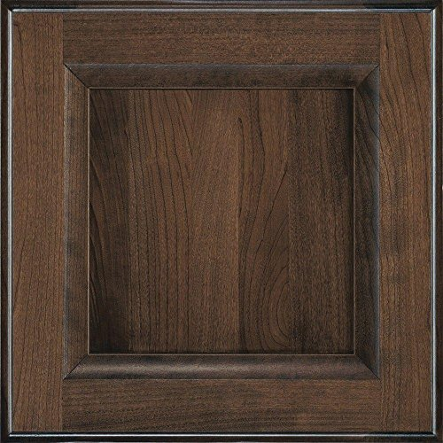 Decora 14.5x14.5 in. Cabinet Door Sample in Huchenson Mink Espresso by Decora