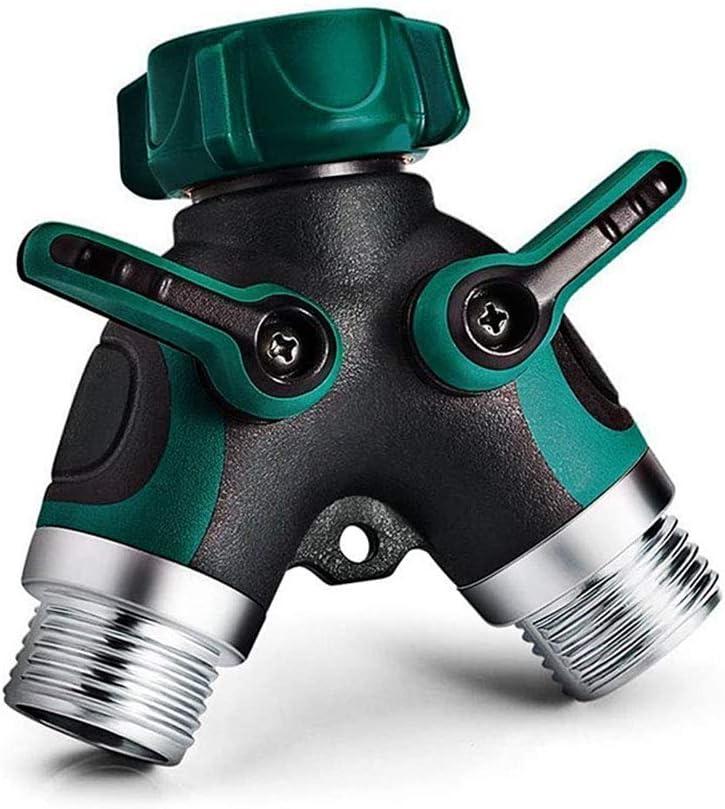 DANMO Metal Garden Hose Splitter, 2 Way Y Hose Connector, Sturdy Connector with 3/4