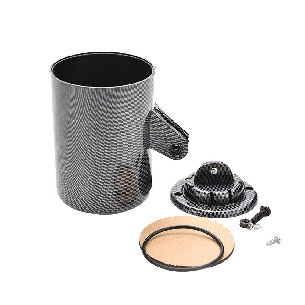 ESUPPORT Carbon Fiber 2 52mm Heavy Duty Universal Single Hole Dash Dashboard Car Auto Motor Gauge Pod Mount Holder