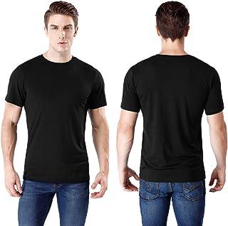 wirarpa Maglietta Uomo Manica Corta Cotone Collo Rotondo T-Shirt Bianca Nero Taglie S M L XL XXL