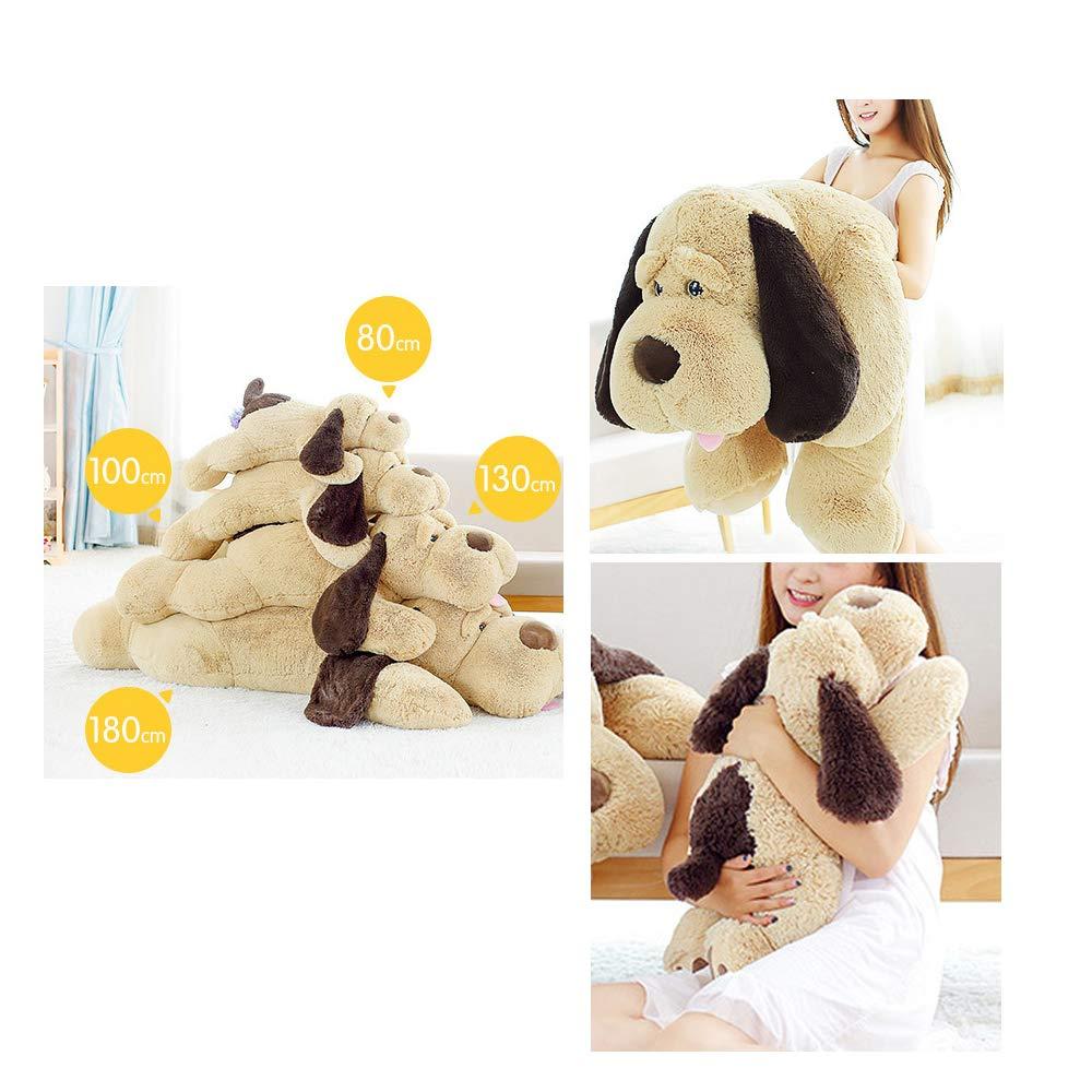 elfishgo Large Dog Plush Hugging Pillow,Soft Big Dogs Stuffed Animal Toys Giant Puppy Gifts for Kids (51 inch) by elfishgo