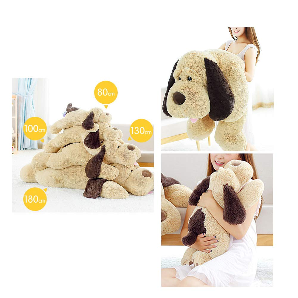 elfishgo Large Dog Plush Hugging Pillow,Soft Big Dogs Stuffed Animal Toys Giant Puppy Gifts for Kids (51 inch)
