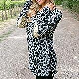 Keliay Bargain Women's Long Sleeve Hoodie Plus Size Pullover Pocket Sequins Print Blouse Top