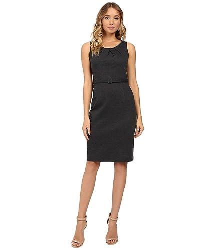 Christin Michaels Women's Merla Sleeveless Pleated Ponte Dress