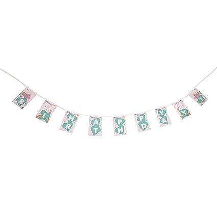 Amazon.com: Banderines de Fiesta con temática de unicornio ...