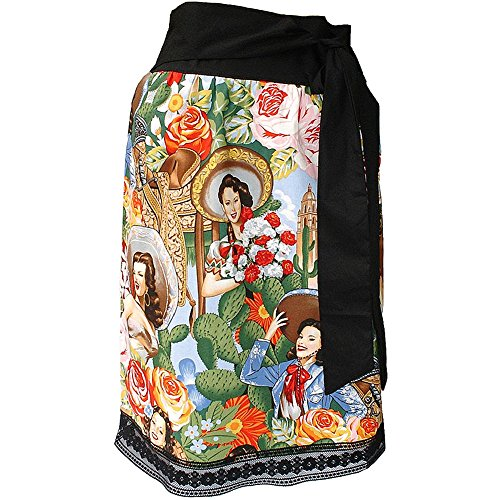 Women's Hemet Rockabilly Mexican Senoritas Inspired Skirt L