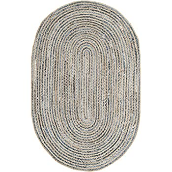 Amazon Com Oval Braided Rug 2 X3 Red Red Amp Cream