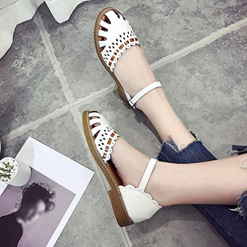 40 Femminili Sandali Fondo Piatto 35 Baotou Fondo Scarpe Singolo con shoes Odejoy pPxRgg