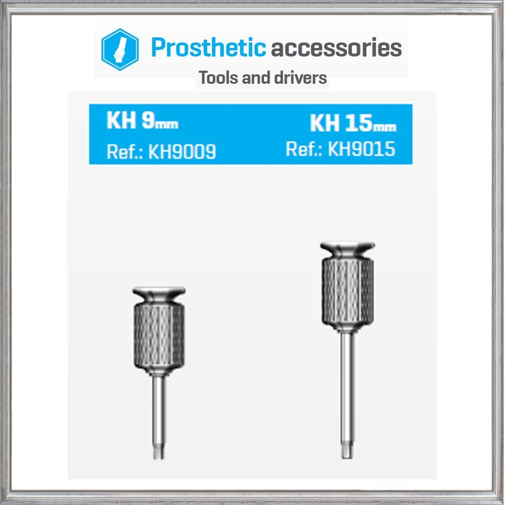 2 x Hand Hex Drivers For Dental Implants Abutments,Short- 9mm + Long- 15mm , Premium Quality By Bio-Effect