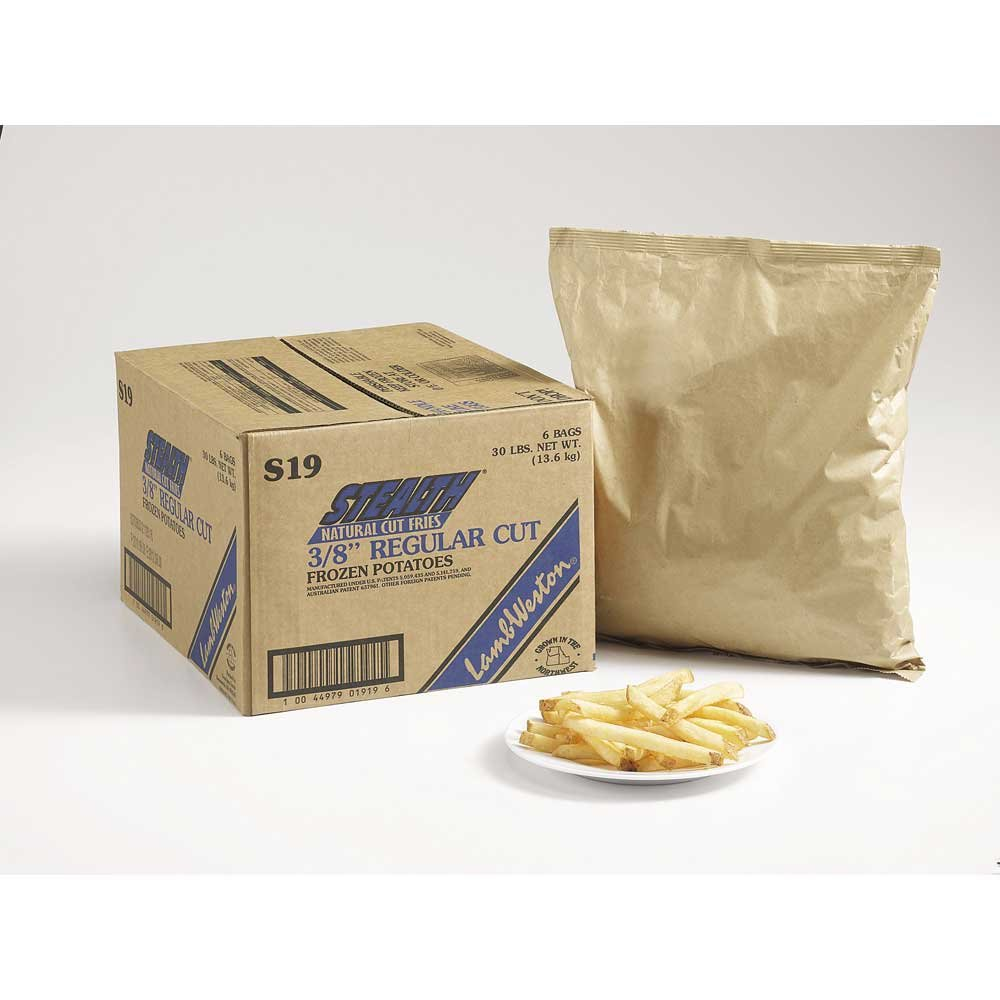 Lamb Weston Stealth Natural Regular Cut French Fry, 5 Pound -- 6 per case.