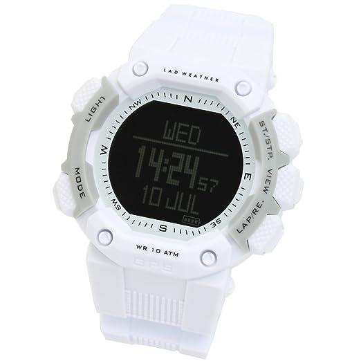 [LAD WEATHER] GPS reloj de running Monitor de frecuencia cardíaca altímetro/odómetro/brújula Digital correr/caminar contador de calorías deportivo reloj: ...
