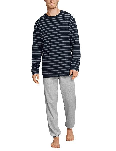 Family Anzug Lang, Conjuntos de Pijama para Hombre, Azul (Nachtblau 804), XX-Large (Talla del Fabricante: 056) Schiesser