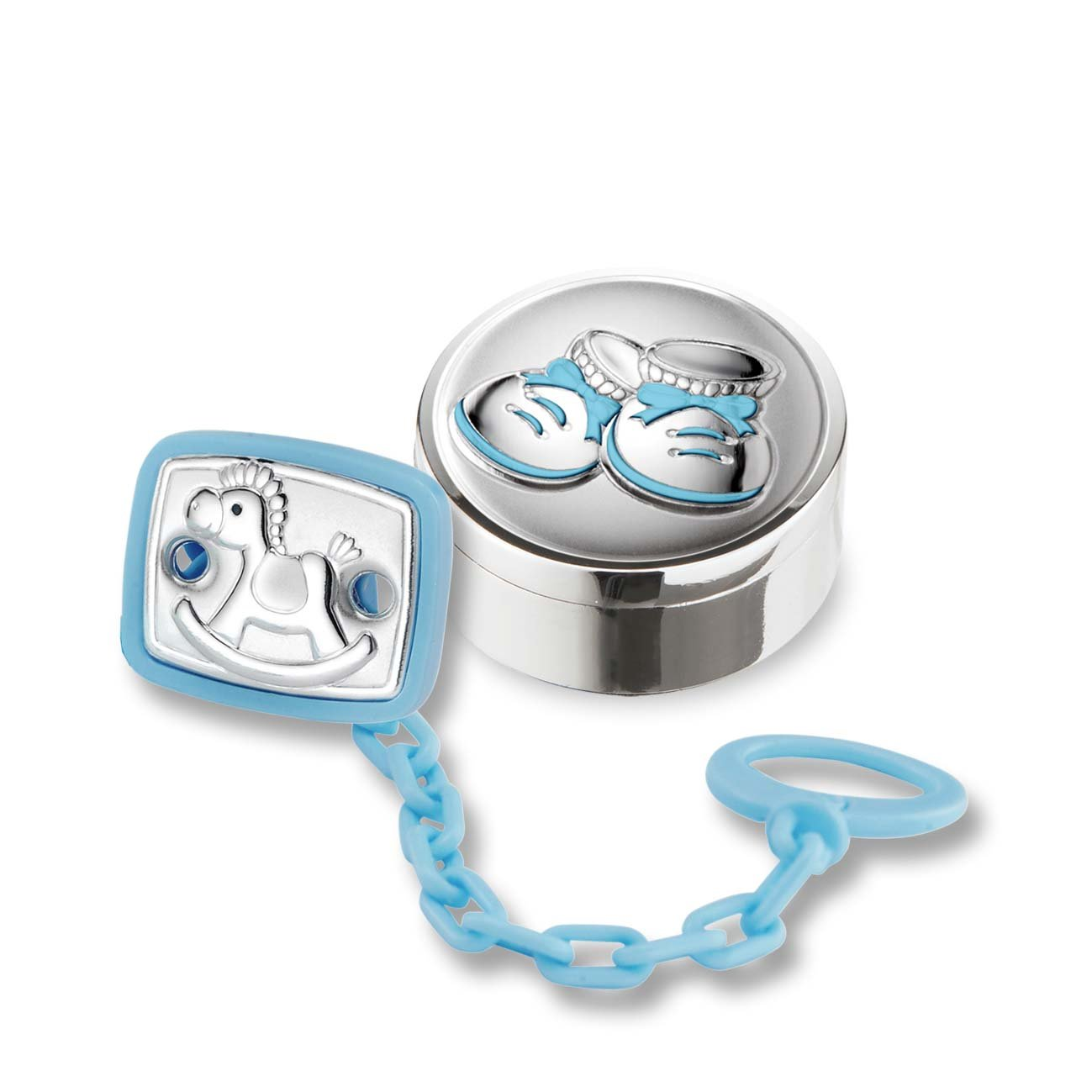 Silver Touch USA .925 Sterling Silver Set: Pacifier and First Tooth or First Curl by Silver Touch USA