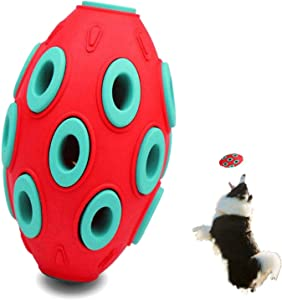 Haliluya Durable Dog Puppy Chew Toys, Toy Ball with Bell for Pets Dogs Cats, Self-Playing Rubber Bouncy Ball Toy for Chewing, Teething, Ball Exercise Game IQ Training Ball