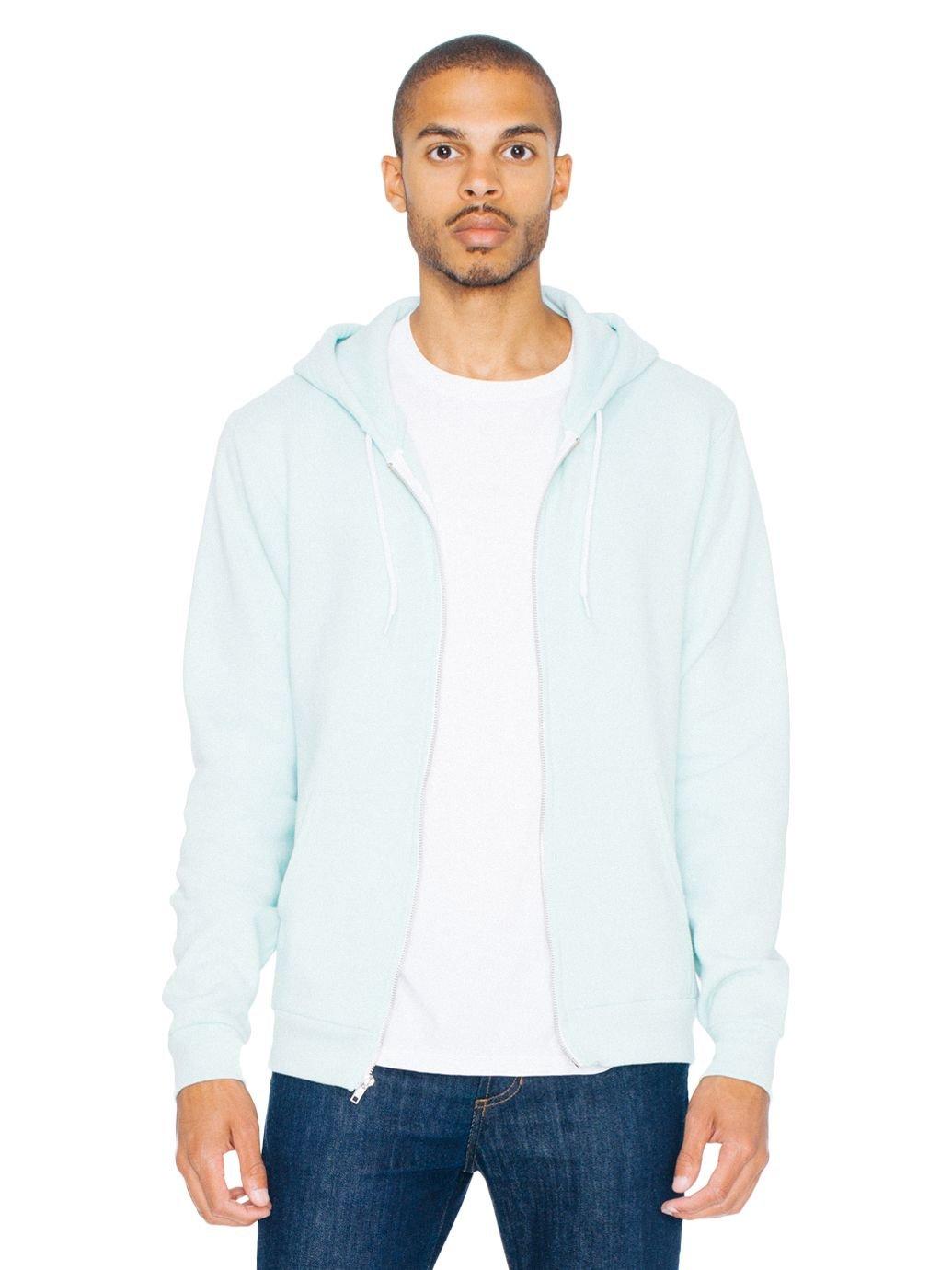 American Apparel Men Flex Fleece Zip Hoodie Size XL Menthe