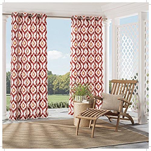 Parasol 15933052084SPC Barbados 52-Inch by 84-Inch Indoor / Outdoor Single Window Curtain Panel, Spice Review