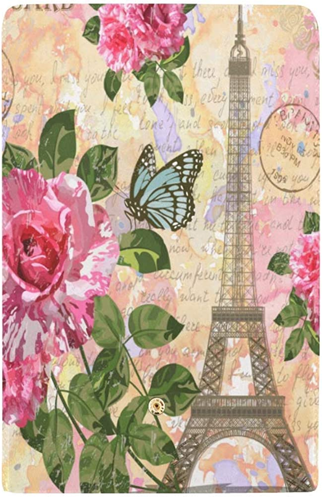 InterestPrint Fashion Eiffel Tower Large Leather Trifold Multi Card Holder Wallet Clutch Long Purse for Women