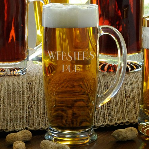 Personalized Beer Mug - Engraved With Your Custom Text - Monogrammed Groomsmen Gift - 18 (Character Beer Stein)