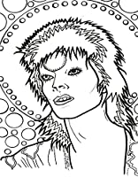 David Bowie Color The Starman Feral House Coloring Books For