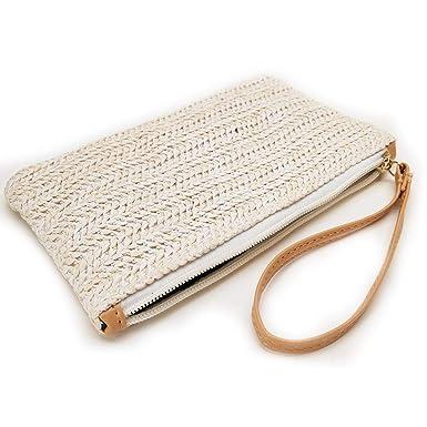 Amazon.com: Summer Rattan Bags for Women - Handmade Wicker ...