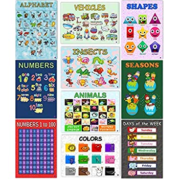 amazoncom educational posters for preschoolers