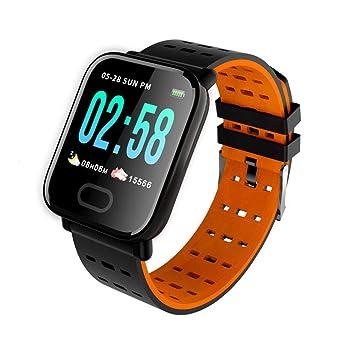 Vosarea A6 Reloj Inteligente con Monitor Color de Monitor de sueño Monitor de sueño de Monitor Color 1.3 Inch (Naranja): Amazon.es: Electrónica